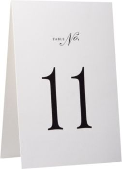 & Table Number Tent Cards - 11-20 | Paper Source