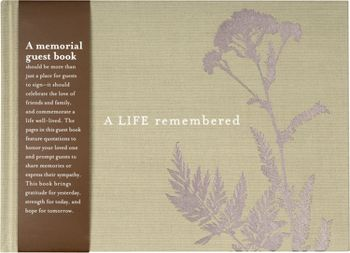 funeral guest book template