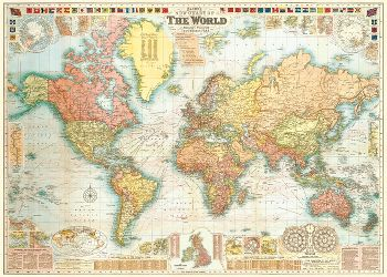 cavallini world map 5 wrapping paper paper source