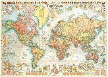 Cavallini wrapping paper paper source cavallini world map 5 wrapping paper gumiabroncs Choice Image